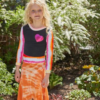 tangerine emma skirt