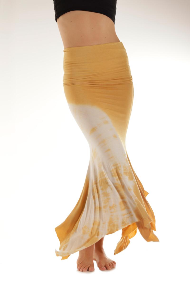 Jamaican gold tie-dye skirt