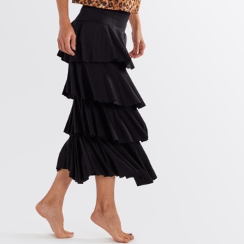 Pakolo Ruffle skirt (Solid Black)