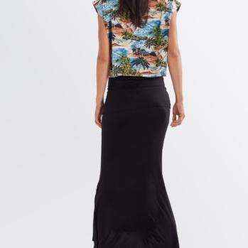 SOLID BLACK SWAG SKIRT/DRESS