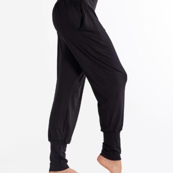 Solid Black Yoga Joggers