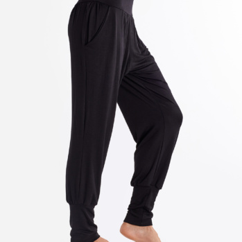 Solid Black Yoga Joggers
