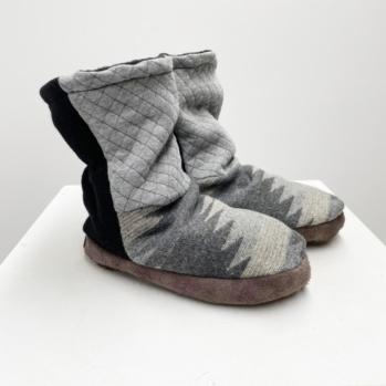 Navaho weave slippers
